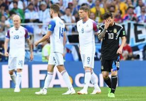 Messi falla un penal, Argentina e Islandia empatan a un gol