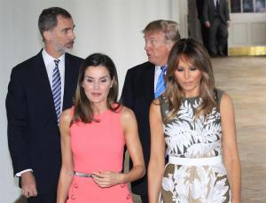 Melania Trump y Letizia muestran cordialidad en su primer encuentro