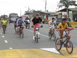 Ciclistas se tomaron las calles