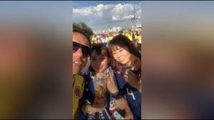 VÍDEO: El polémico vídeo de un colombiano ofendiendo a una hincha japonesa en Rusia