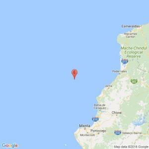 Un temblor de 3,9 se registró en frente a las costas de Jama