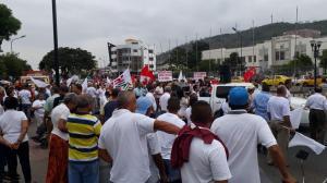 Marcha ''por la salud y la vida'' se realizó en Portoviejo