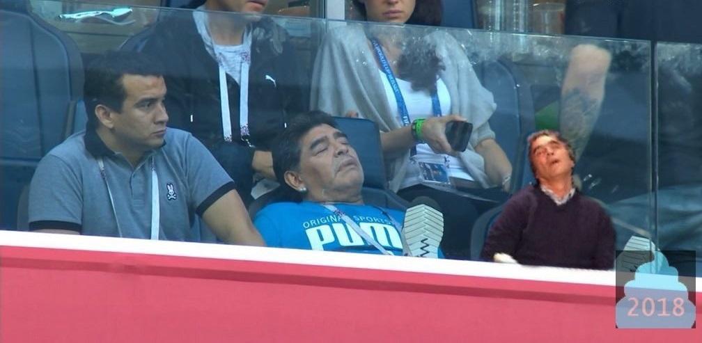 Maradona, el protagonista en redes en el encuentro entre Nigeria y Argentina