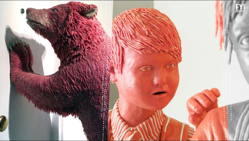 VÍDEO: Conoce a este escultor que hace obras de arte con goma de mascar