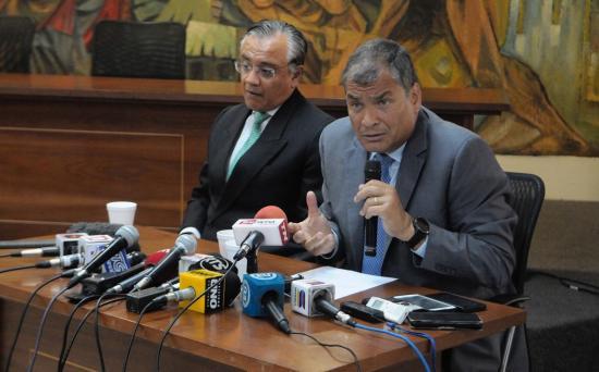 Expresidente Rafael Correa no acudirá a rendir su versión en caso Balda