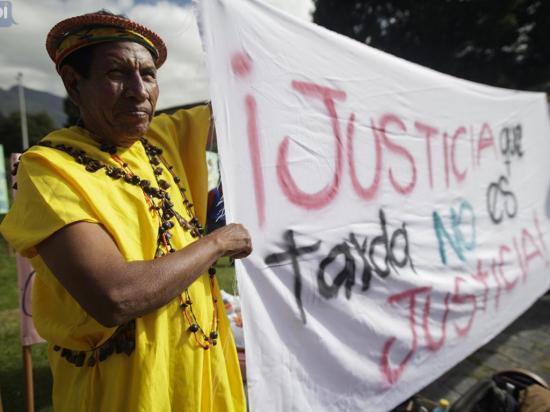 Afectados por Chevron celebran el fallo de la Corte Constitucional