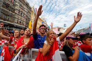 Croacia sigue festejando pese a la derrota en la final del Mundial