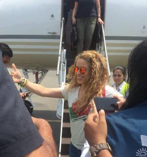Shakira llega a Barranquilla para la inauguración de los Juegos Centroamericanos y del Caribe