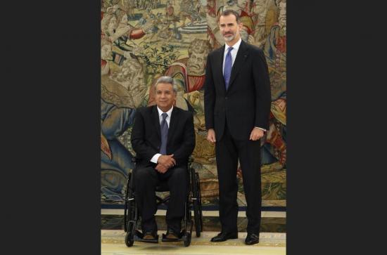 El Rey de España recibirá al presidente Lenín Moreno el 26 de julio en Madrid