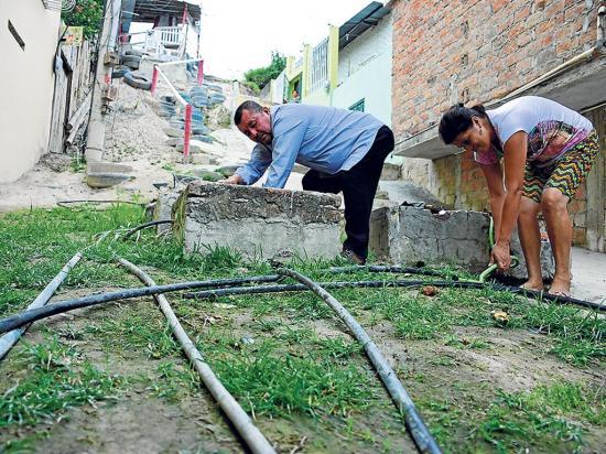 400 familias en sector El Progreso estuvieron sin agua por un daño