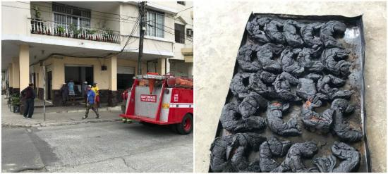 A un panadero se le queman 'los cachos' en Bahía de Caráquez