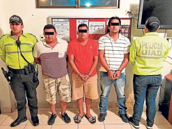 Detenidos en asalto de gasolinera en Montecristi pasaron a la cárcel de Jipijapa