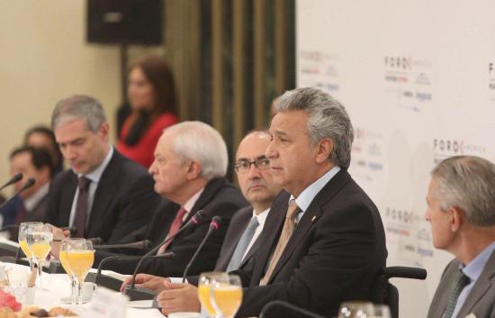 Moreno ofrece ''seguridad jurídica'' a empresarios para invertir en el Ecuador