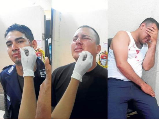3 Municipales heridos en riña con vendedores
