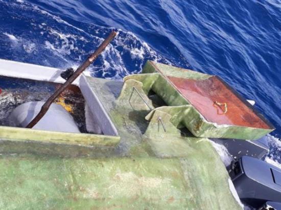 Cae submarino con 38 bultos