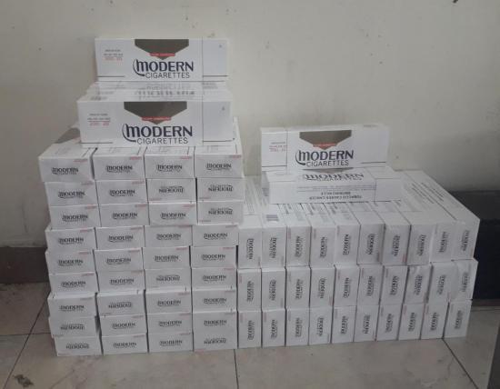 Decomisan 1.150 cajetillas de cigarrillos