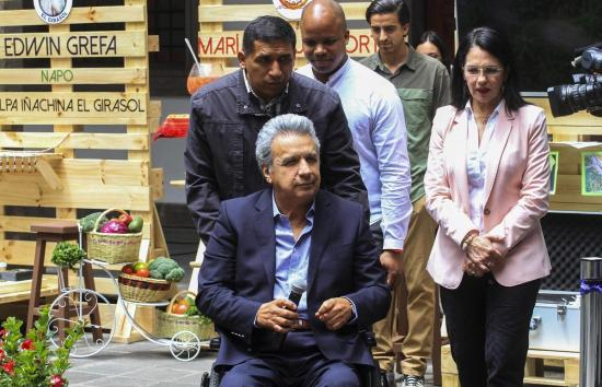 Lenín Moreno analizará con el Banco Interamericano la situación económica del país