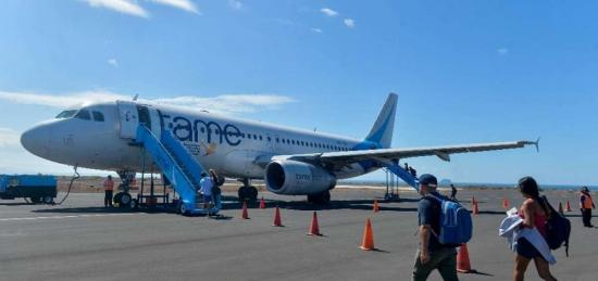Tame se deshace del plástico en sus vuelos a Galápagos