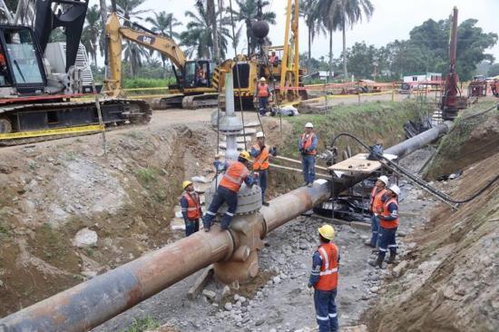 El oleoducto  se paralizó 21 horas
