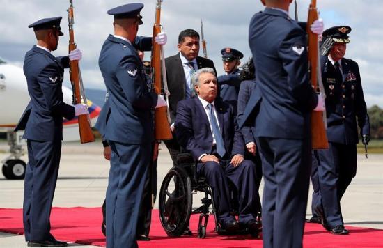 Lenín Moreno llega a Bogotá para investidura de Duque y tratar temas fronterizos