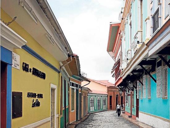 Un barrio  muy colonial