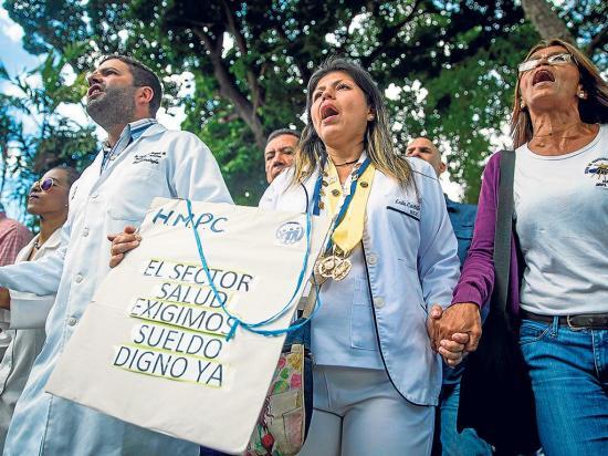 El personal sanitario protestará en Caracas por falta de medicinas
