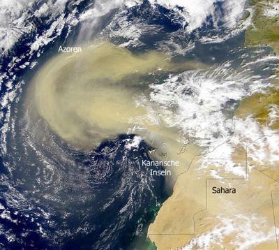 Un nube de polvo del desierto del Sahara afectará a Centroamérica