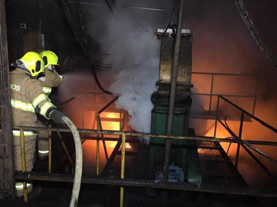 Incendio causó temor en fábrica