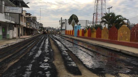 El asfaltado  fue suspendido