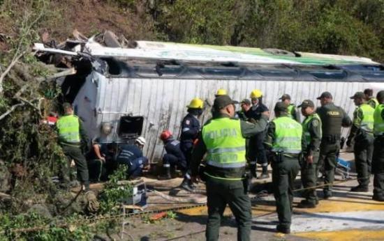 Varios heridos tras accidentarse un bus con hinchas de Atlético Nacional