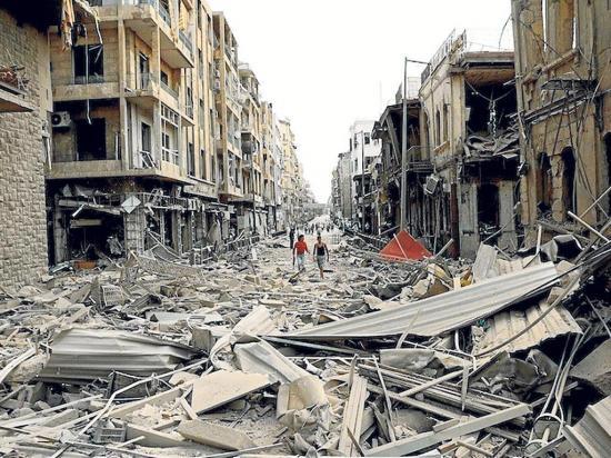39 civiles muertos al  derrumbarse edificio en Siria por una explosión