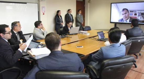 Rafael Correa dará hoy por videoconferencia su versión sobre asesinato de general