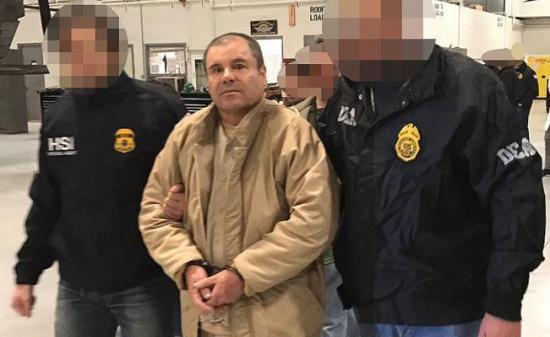 Polémica por el 'circo' de seguridad para El 'Chapo' Guzman cuando va a la corte