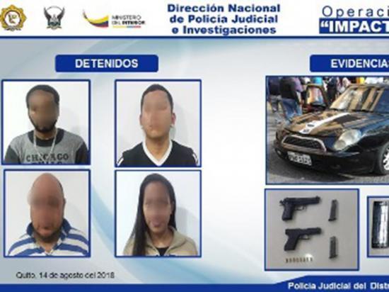 Detienen a cuatro  integrantes de una presunta banda