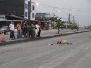 Mujer de 65 años murió hoy atropellada en El Carmen