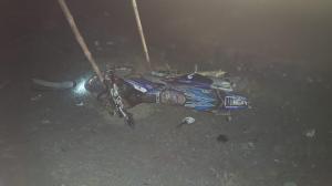 Iba en su motocicleta y se accidentó