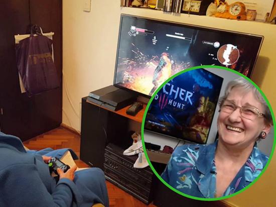 Una abuela adicta a los videojuegos