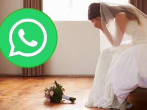 Perdió su boda por Whatsapp