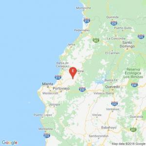 Sismo de 4.9 se registró este mediodía en Calceta, Manabí