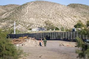 Autoridades comienzan a sustituir malla por muro fronterizo en Texas en EEUU