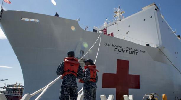 Buque hospital de EE.UU. ofrecerá atención médica durante 5 días en Ecuador