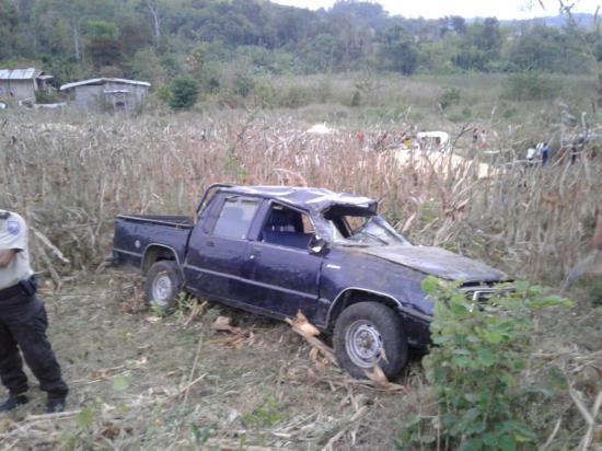 Paján: Hombre resulta herido tras accidentarse la camioneta en la que se movilizaba
