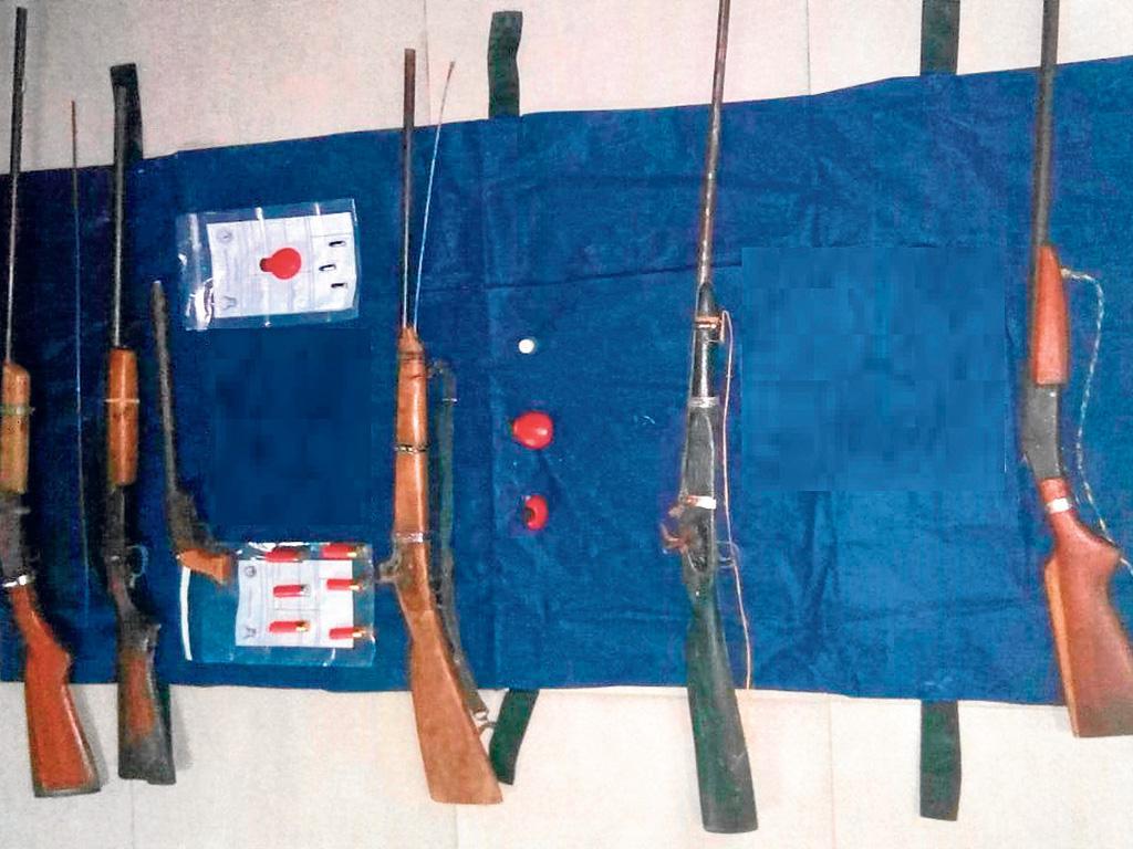 Decomisan seis armas de fuego