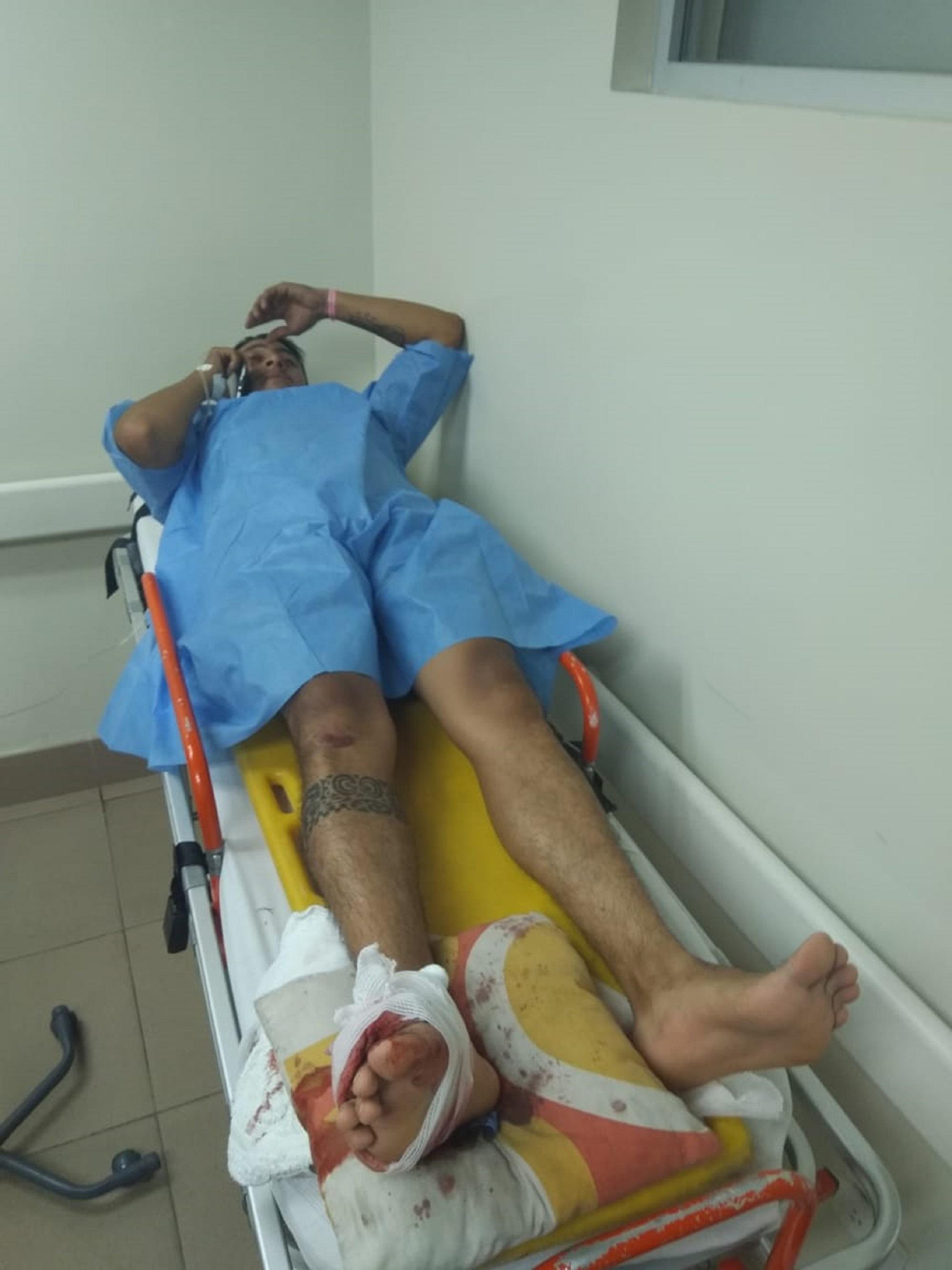 Motociclista fue a parar al hospital