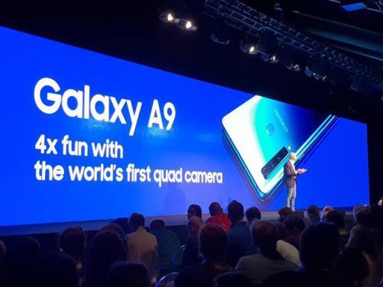 Galaxy A9 tiene cuatro cámaras traseras