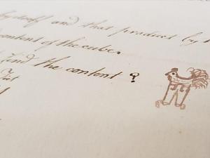 Gallina en pantalones dibujada en el siglo XVIII por un niño se hace viral