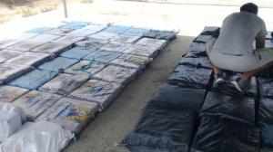Decomisan dos toneladas de droga en Muyuyal, en Canoa
