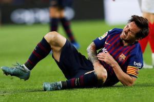 Messi, con fractura del radio derecho, estará tres semanas de baja