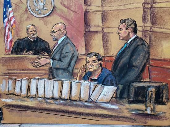 """Doce jurados definirán caso de """"El Chapo"""""""