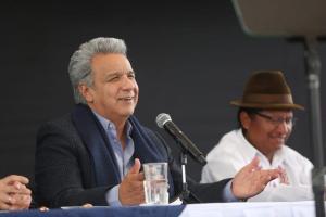 Lenín Moreno pide a los asambleístas que luchen contra la corrupción
